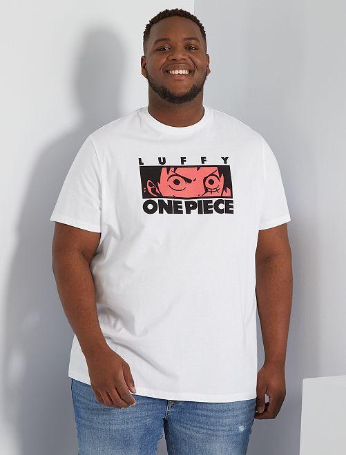 Camiseta 'One Piece'                             blanco