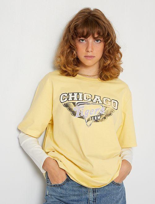 Camiseta oversize                                                                 AMARILLO