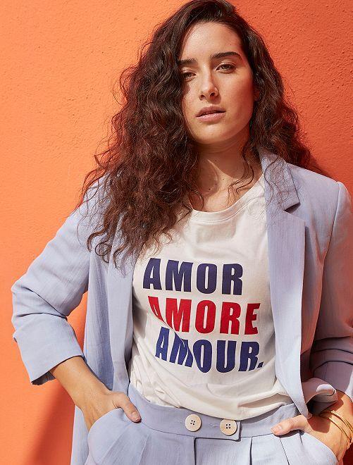 Camiseta oversize 'eco-concepción'                                                                 BLANCO