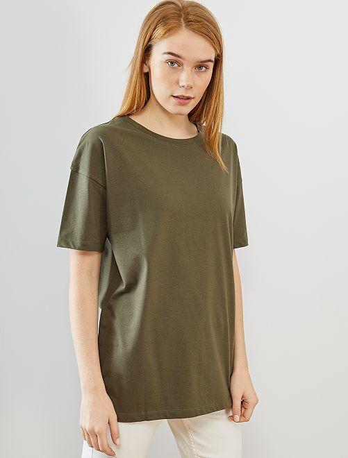 Camiseta oversize 'eco-concepción'                                                     KAKI
