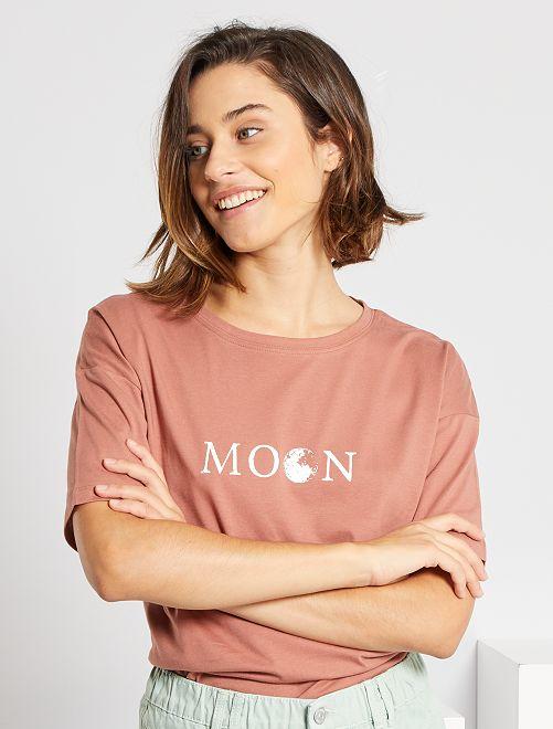 Camiseta oversize 'eco-concepción'                                                                             ROSA