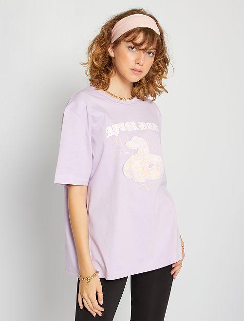 Camiseta oversize                                                                 PURPURA
