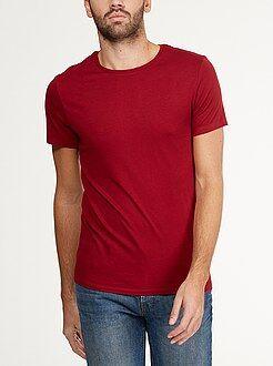 Camisetas básicas - Camiseta 'OWK'de algodón con cuello redondo