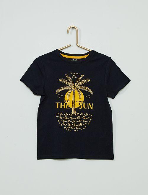 Camiseta 'palmera'                                                                                                                                                                 AZUL