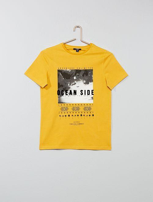 Camiseta photoprint                                         AMARILLO Joven niño