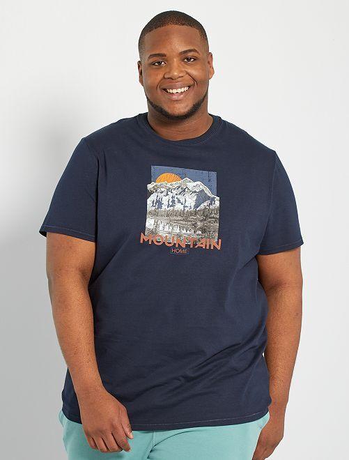 Camiseta photoprint eco-concepción                                                         AZUL