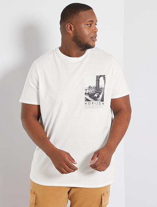 Camiseta photoprint eco-concepción                                         BLANCO