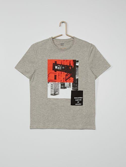 Camiseta photoprint                             GRIS