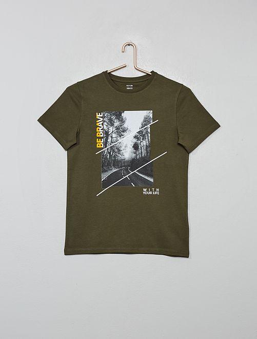 Camiseta photoprint                             KAKI