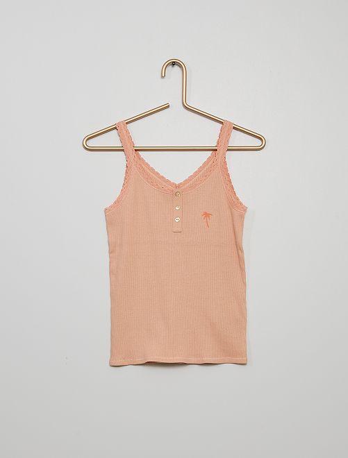 Camiseta pijama de tirantes                                         rosa