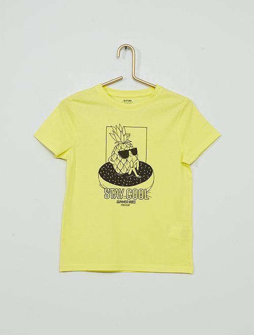 Camiseta 'piña'                                                                                                                                                                 AMARILLO