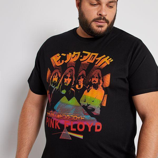 Camiseta Pink Floyd Tallas Grandes Hombre Negro Kiabi 15 00