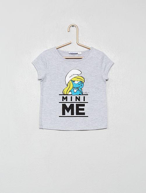 Camiseta 'Pitufina'                             gris chiné