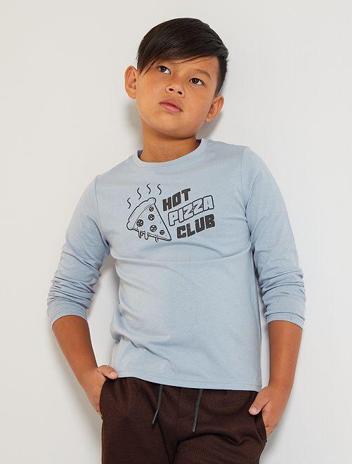 Camiseta 'pizza'                                                                                                                             AZUL