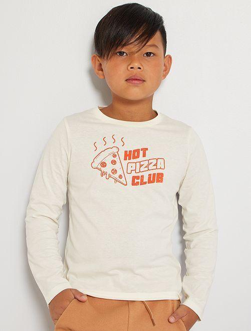 Camiseta 'pizza'                                                                                                                             BLANCO