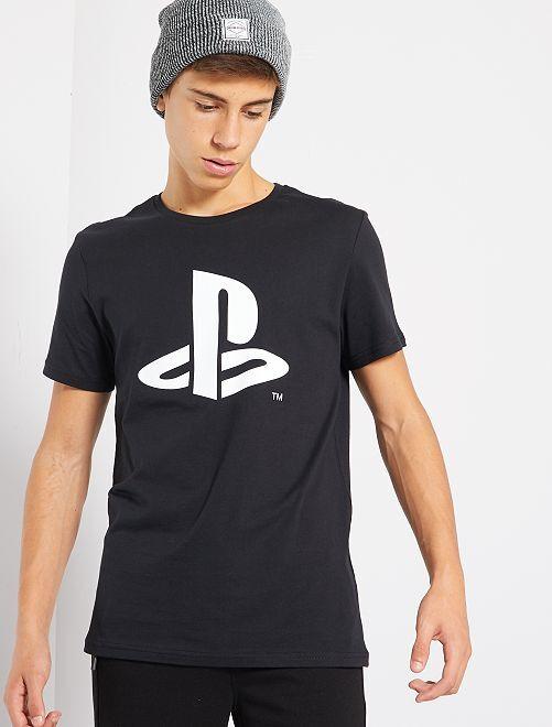 Camiseta 'Playstation'                             NEGRO