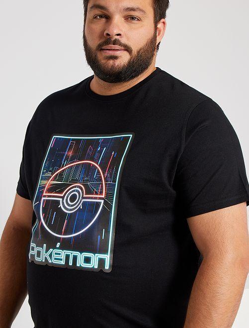Camiseta 'Pokemon'                             negro