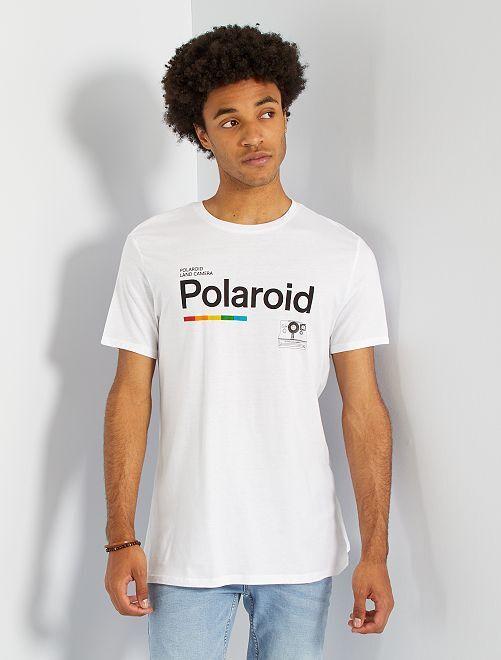 Camiseta 'Polaroid'                             blanco