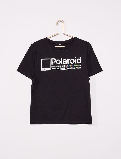 Camiseta 'Polaroid'                             gris chiné