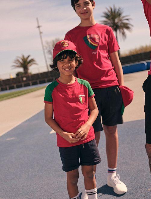 Camiseta 'Portugal' eco-concepción                                                     ROJO