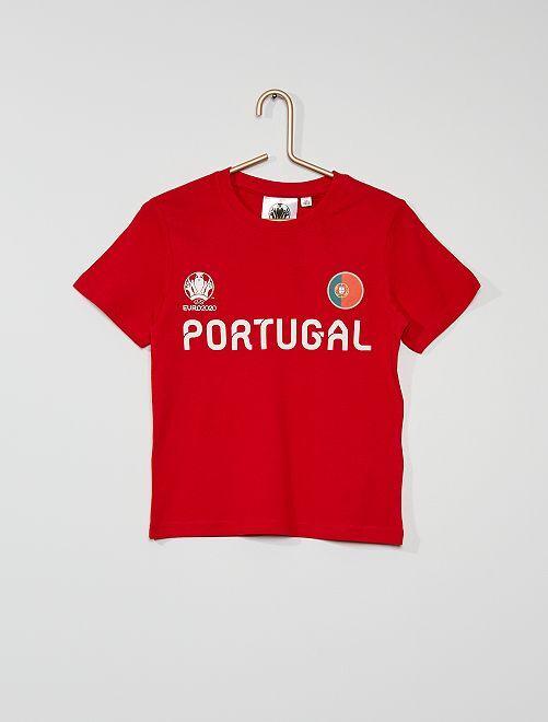 Camiseta 'Portugal' 'UEFA EURO 2020'                             rojo