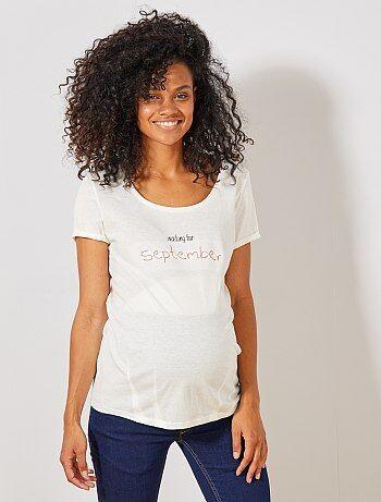 150b5198a Premamá - Camiseta premamá de algodón orgánico - Kiabi
