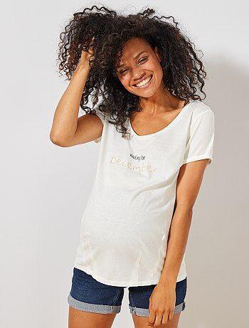 02b51a0e5 Premamá - Camiseta premamá de algodón orgánico - Kiabi