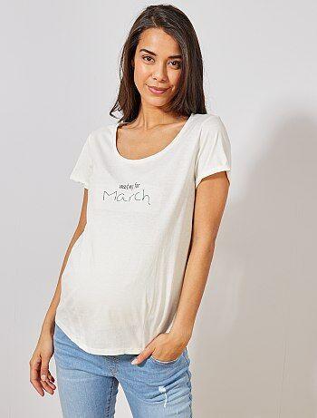 8616e38f6c0 Camiseta premamá de algodón orgánico - Kiabi
