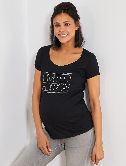Camiseta premamá de algodón orgánico                                                                                         BLANCO Premamá