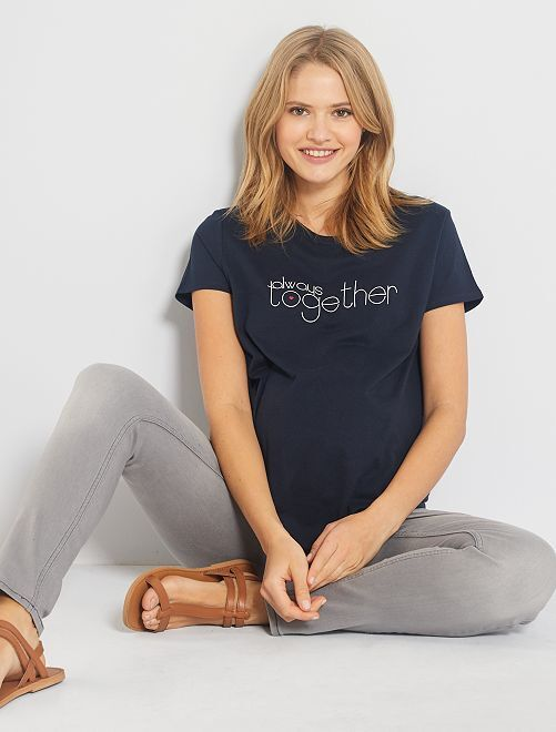 Camiseta premamá 'eco-concepción'                                         AZUL