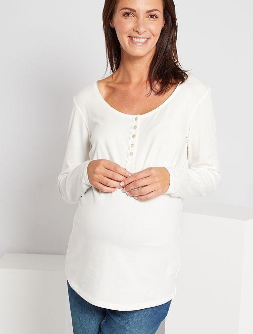 Camiseta premamá eco-concepción                                         blanco nieve