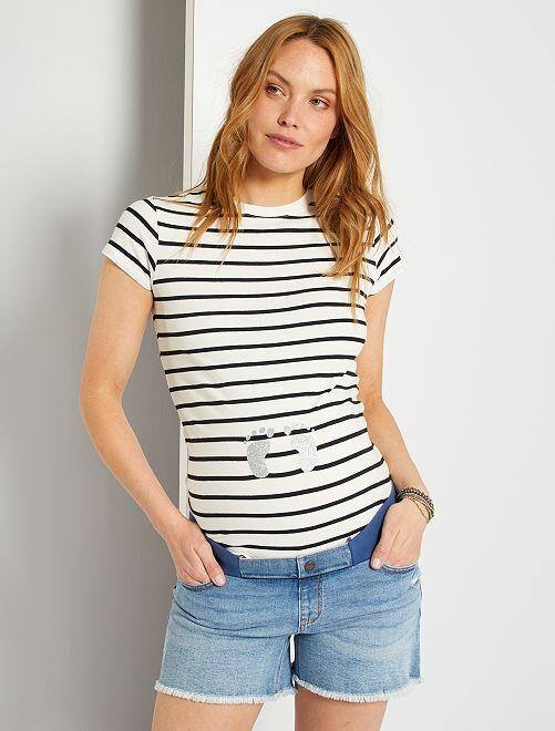 Camiseta premamá eco-concepción                                                     BLANCO