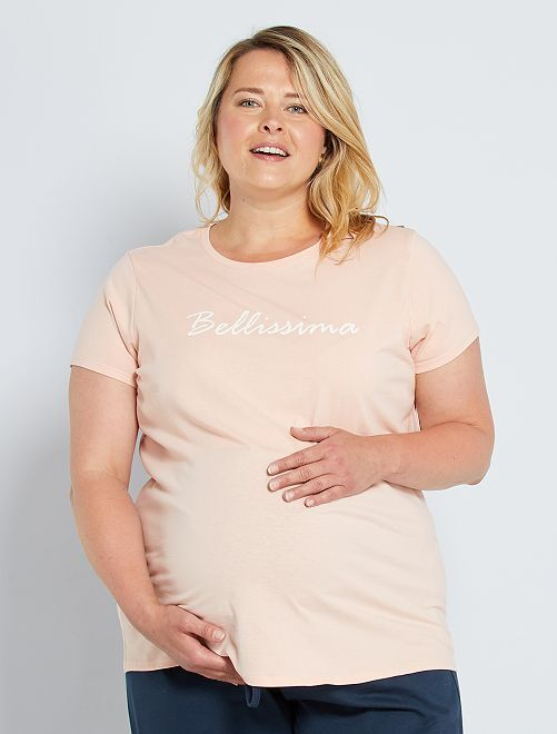 Camiseta premamá 'eco-concepción'                                                                 ROSA