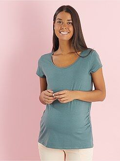 Ropa premamá - Camiseta premamá elástica