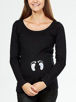 Ropa premamá - Camiseta premamá estampada