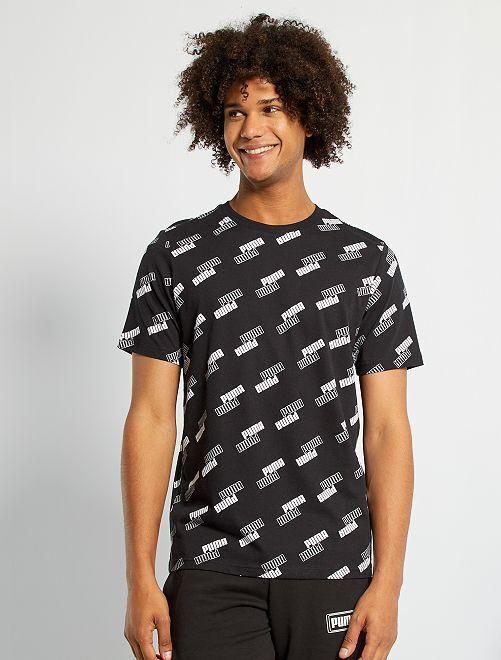 Camiseta 'Puma' con logo all over                             BEIGE