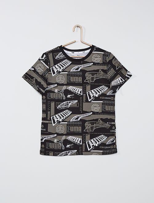 Camiseta 'Puma' manga corta                             NEGRO
