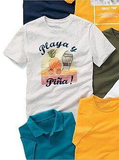 Camiseta recta con estampado de fantasía - Kiabi