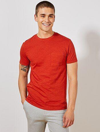 8a332f4b262 Hombre talla S-XXL - Camiseta recta de algodón orgánico - Kiabi