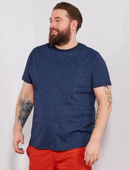 Camiseta recta estampada Ecodiseño Tallas grandes hombre - BLANCO ... 32b0f304394