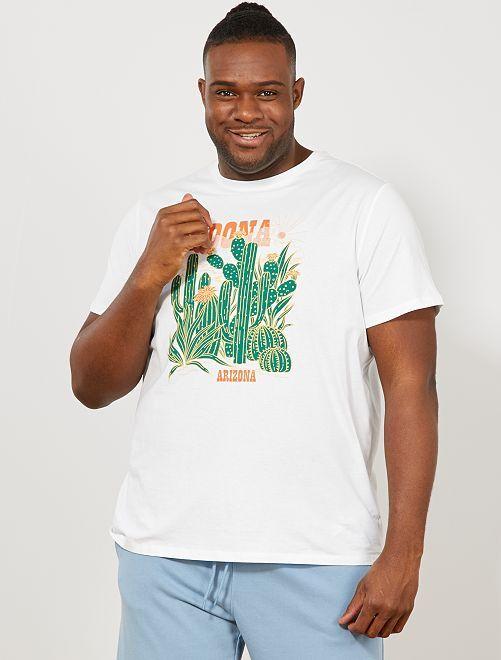 Camiseta recta estampada Ecodiseño                                                                 BLANCO