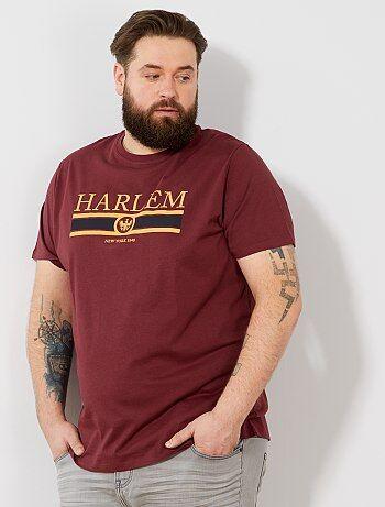 Tallas grandes hombre - Camiseta recta estampada Ecodiseño - Kiabi d1f49c552b3