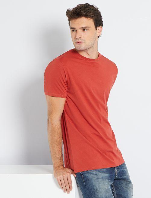 Camiseta regular de algodón puro +1,90 m                                                                                                     ROJO