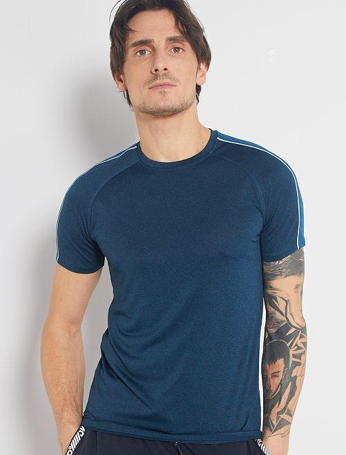 Camiseta regular de microfibra                     AZUL