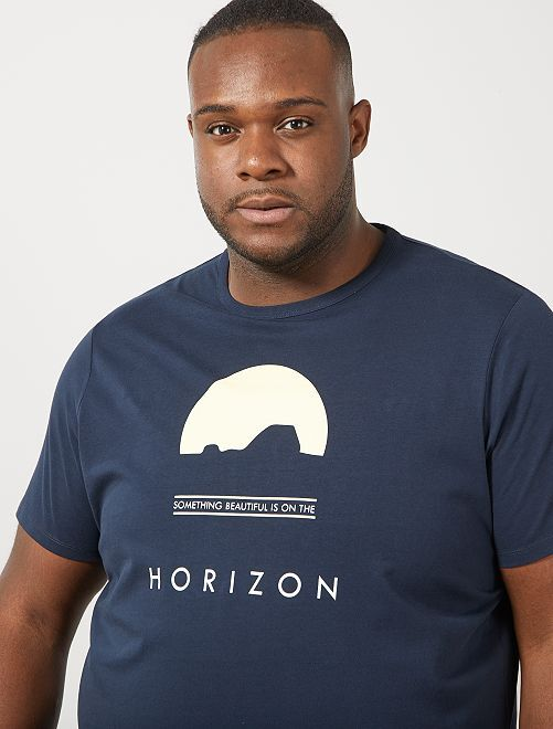 Camiseta regular estampada                                                                                                                             AZUL