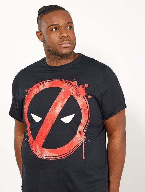 Camiseta regular estampada 'Deadpool'                             negro