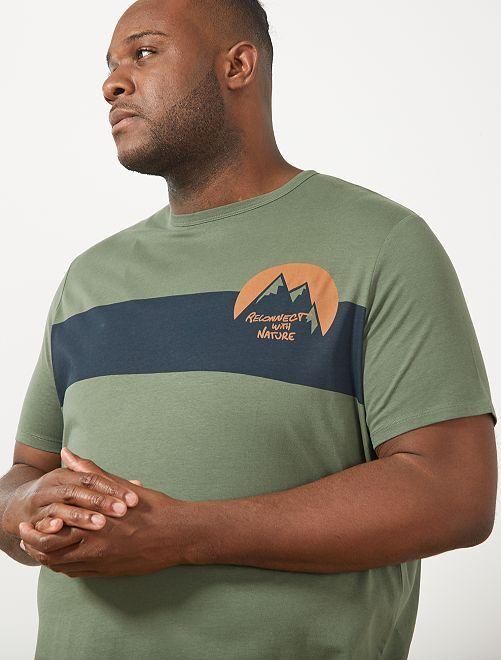 Camiseta regular estampada                                                                                         KAKI
