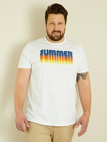 Camiseta regular estampada 'summer' - Kiabi