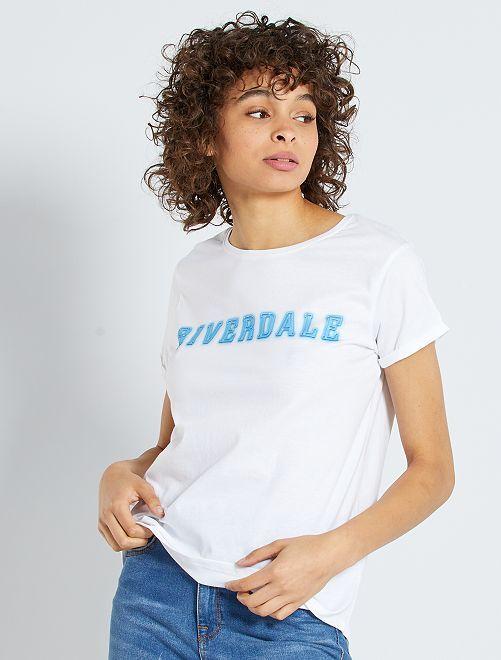 Camiseta 'Riverdale'                             blanco
