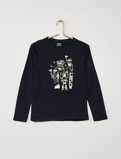 Camiseta 'robots'                                                                                                                             AZUL